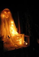 ghost in chair 1pg Spooky halloween ghosts.