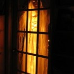 ghost in french door 150x150 Spooky halloween ghosts.